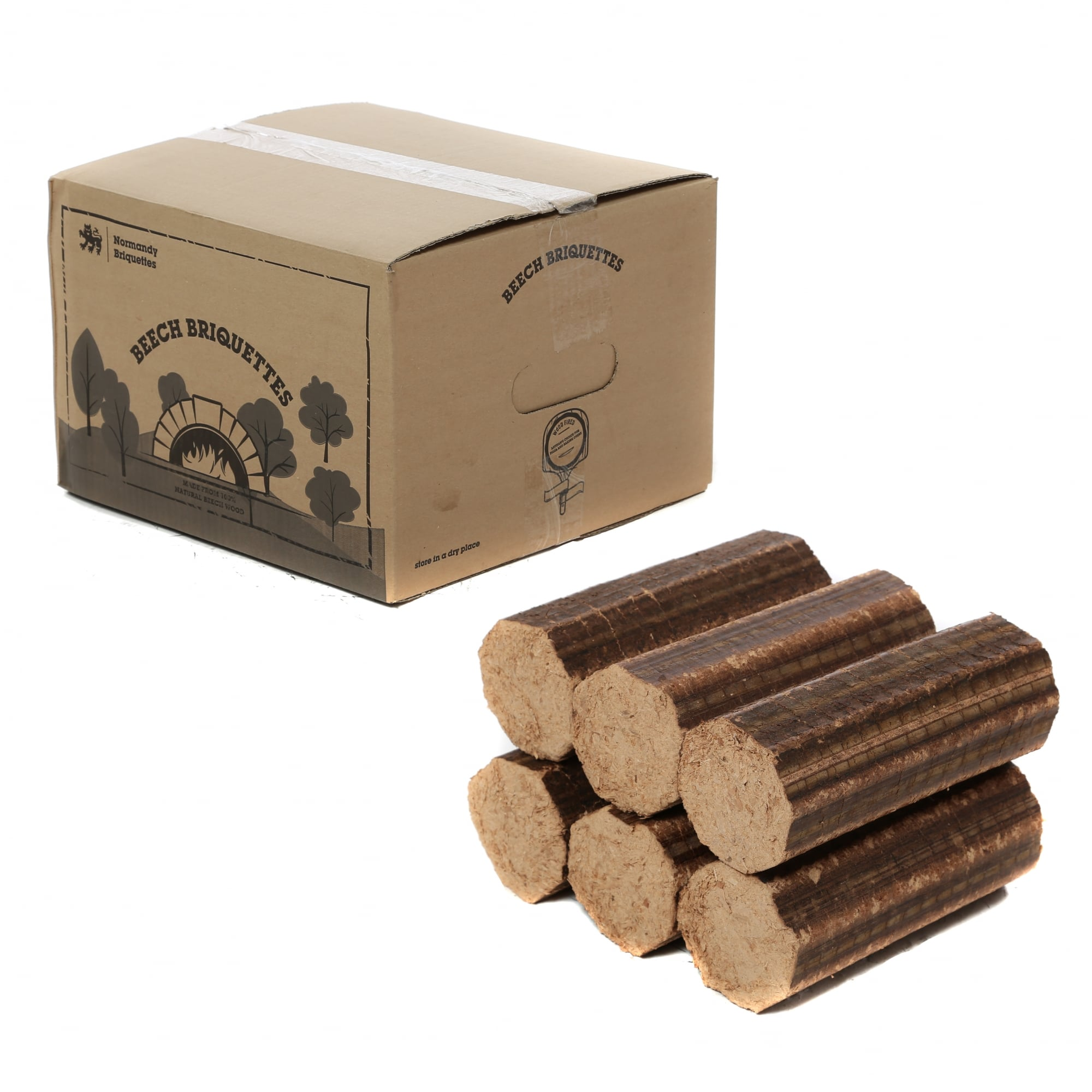 36 Boxes Of Normandy Beech Briquettes For Log Stoves Pizza Ovens