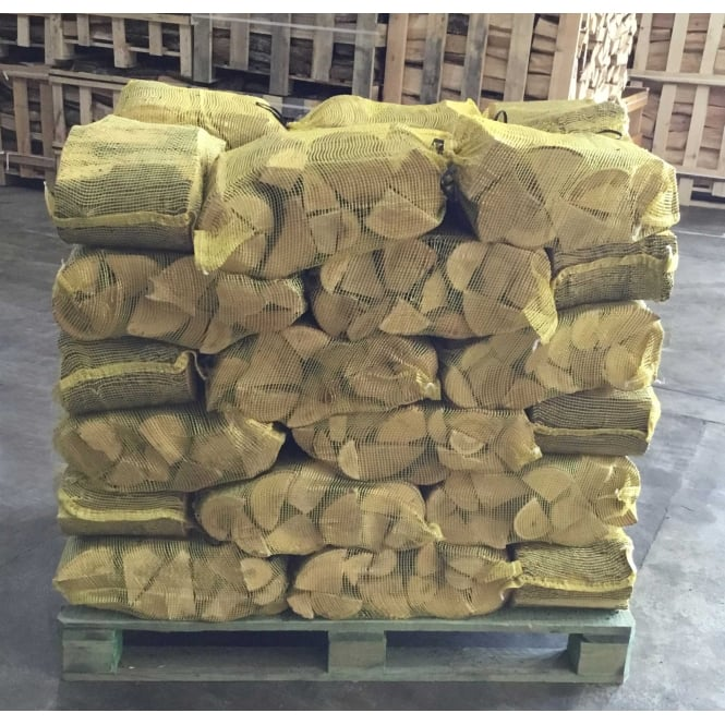 42 Handy Nets Of Kiln Dried ASH & BIRCH Logs Delivered On A Pallet
