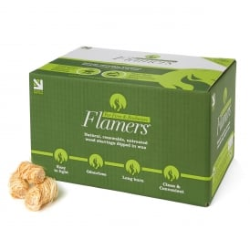 Box Of 200 Natural Wood Wool Flamers ONLY SOLD WITH LOGS & HEAT LOGS