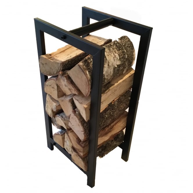 Contemporary Black Log Holder & Carrier