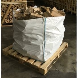 Kiln Dried ASH Logs Bulk Bag Full To The Top Of Low Moisture Logs