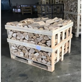 Kiln Dried ASH Logs Half Crate Dry Low Moisture Logs