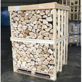 Kiln Dried ASH Logs Large Crate Combo With Six Nets Of Kindling
