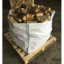 Kiln Dried BIRCH Logs Bulk Bag Full To The Top Of Low Moisture Logs