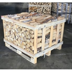 Kiln Dried BIRCH Logs Half Crate & Six Nets Of Kindling