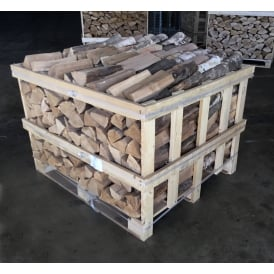 Kiln Dried OAK & BIRCH Logs Mixed Half Crate 50/50