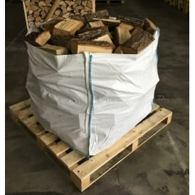 Kiln Dried OAK Logs Bulk Bag Full To The Top Of Low Moisture Logs