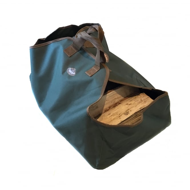Large Green Canvas Log Carrier