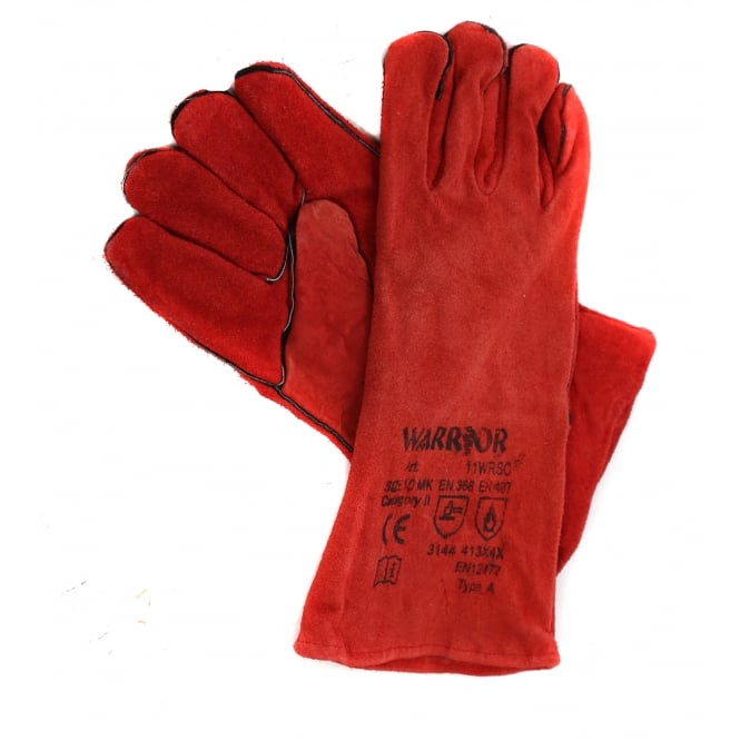 Long Leather Gauntlet Heat Resistant Gloves ONLY SOLD WITH LOGS