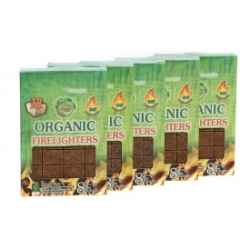 Organic Firelighters Five Boxes ONLY SOLD WITH LOGS & HEAT LOGS