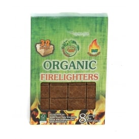Organic Firelighters ONE Box ONLY SOLD WITH LOGS & HEAT LOGS