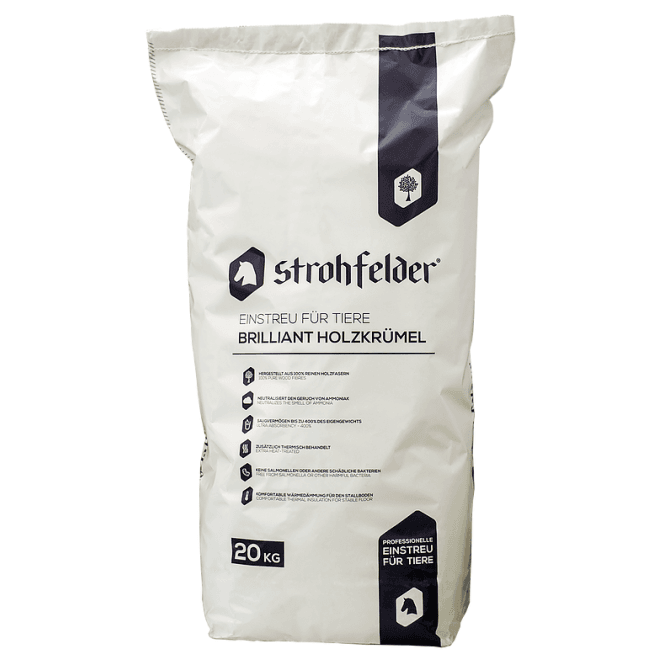 Strohfelder Brilliant Wood Based Dust Free Horse Bedding 12 x 20kg Bags